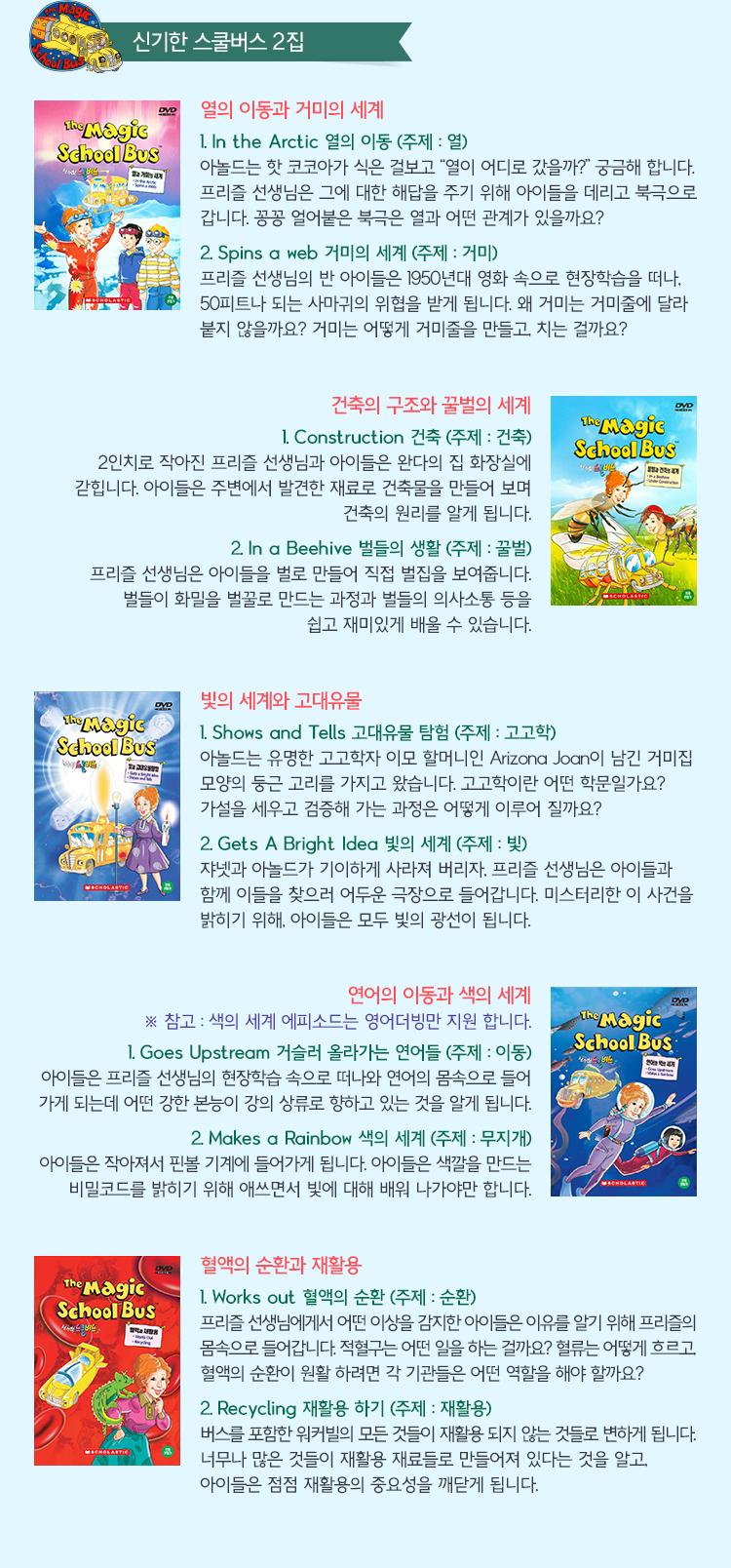 The Magic School Bus DVD 에피소드 2집