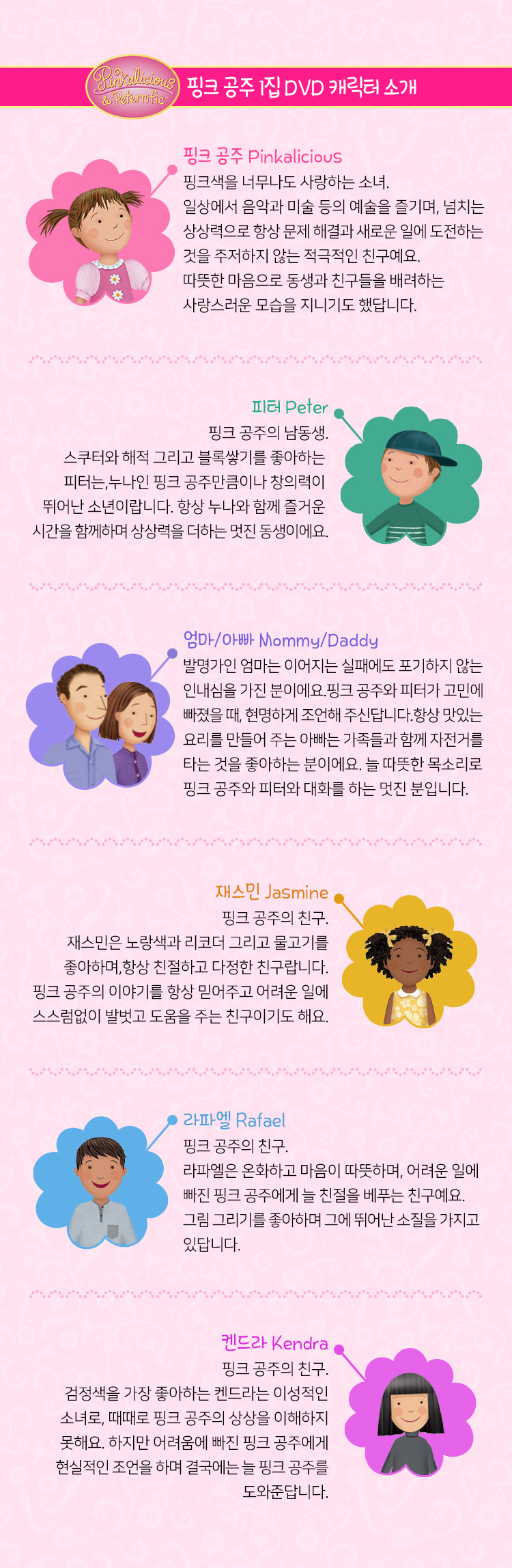핑크 공주 1집 캐릭터 소개
