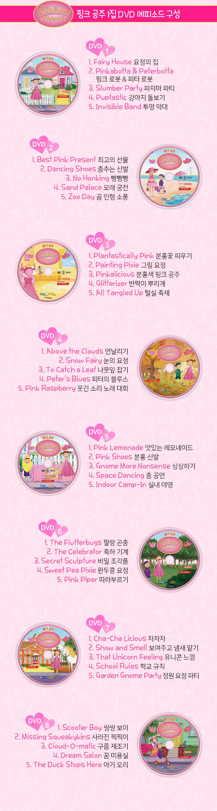 핑크 공주 1집 에피소드 구성