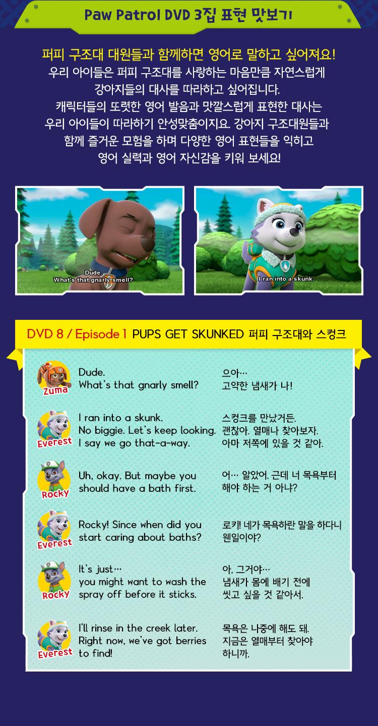 Paw Patrol DVD 3집 표현 맛보기